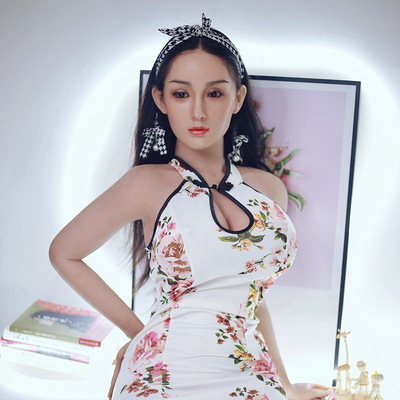 Jaimie- Chinese silicone sex doll elegant lady with long hair realistic doll